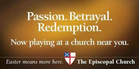 Passion. Betrayal. Redemption. Playing at a church near you